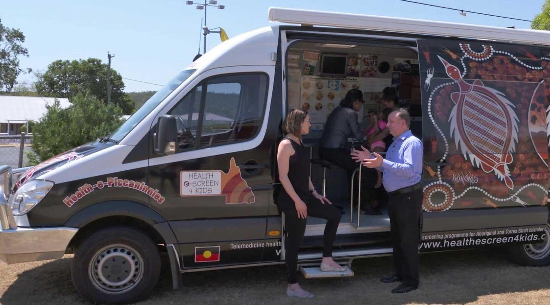 Remote care van providing medical care to remote communities using ProEx Telehealth Hub
