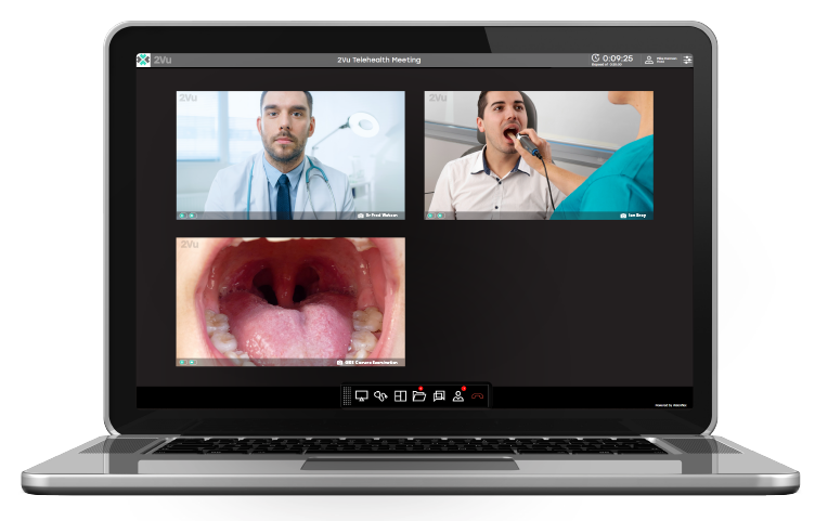 laptop image of Telehealth Video Conferencing