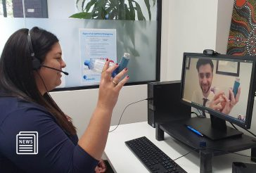 Image of nurse with asthma patient