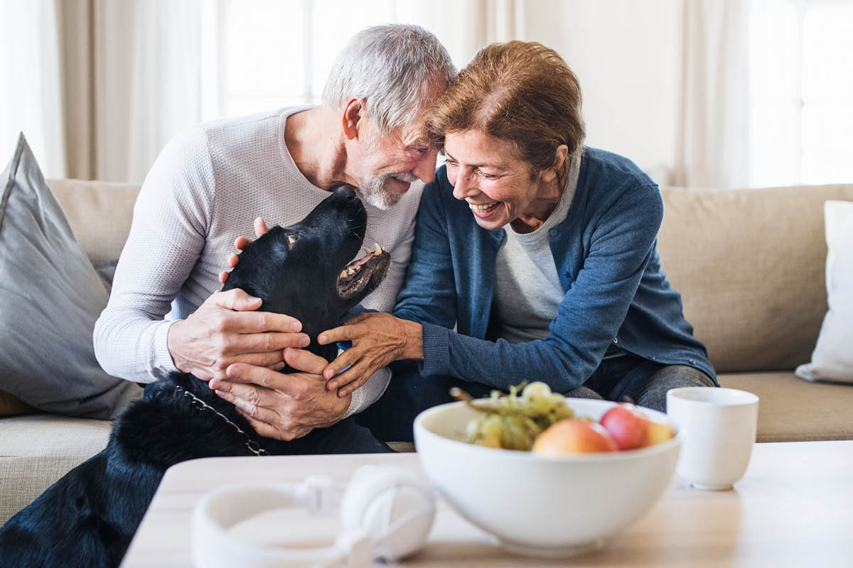 old couple ageing at home