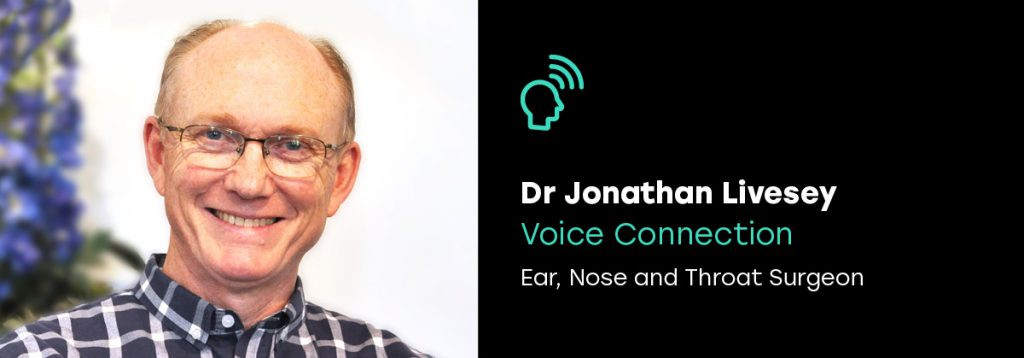 Dr Jonathan Livesey, ENT voice specialist